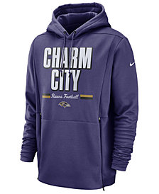 Nike Men's Baltimore Ravens Sideline Player Local Therma Hoodie
