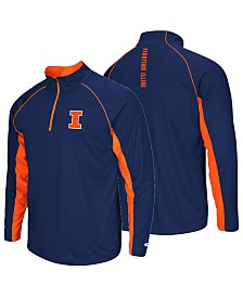 Colosseum Men's Illinois Fighting Illini Rival Quarter-Zip Pullover