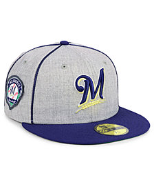 New Era Milwaukee Brewers Stache 59FIFTY FITTED Cap