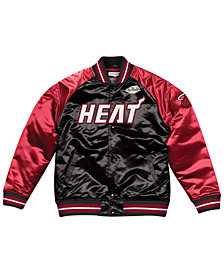 Mitchell & Ness Men's Miami Heat Tough Season Satin Jacket