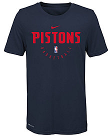 Nike Detroit Pistons Elite Practice T-Shirt, Big Boys (8-20)