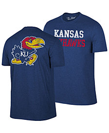 Retro Brand Men's Kansas Jayhawks Team Stacked Dual Blend T-Shirt