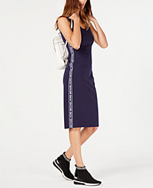 MICHAEL Michael Kors MKGO Logo-Stripe Dress, Created for Macy's