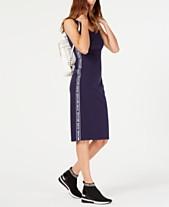 6df541d4e8 MICHAEL Michael Kors MKGO Logo-Stripe Dress