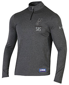 Under Armour Men's San Antonio Spurs Combine Authentic Season Quarter-Zip Pullover