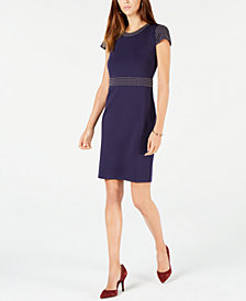 MICHAEL Michael Kors Studded Cap-Sleeve Dress, In Regular & Petite Sizes