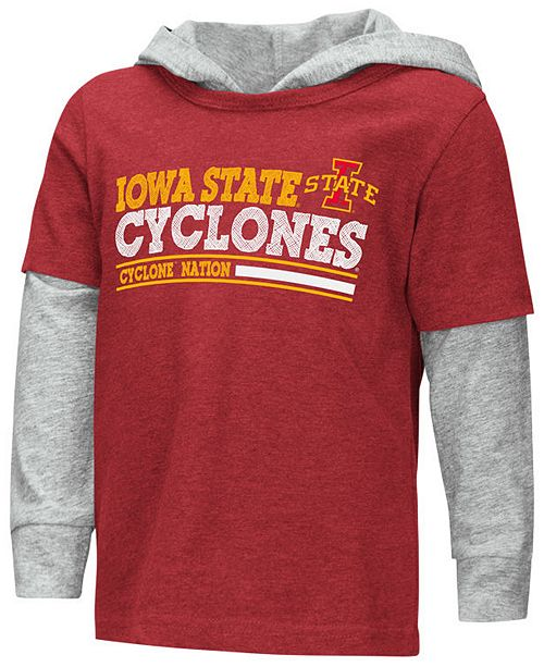 Colosseum Iowa State Cyclones Hooded Long Sleeve T-Shirt, Toddler Boys (2T-4T)