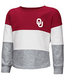 Oklahoma Sooners Tricolored Long Sleeve T-Shirt, Toddler Girls (2T-4T)