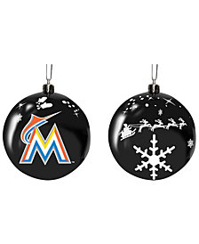 "Memory Company Miami Marlins 3"" Sled Glass Ball"