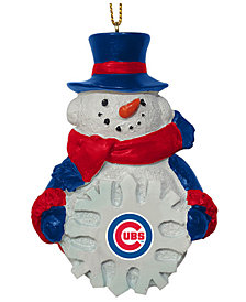 Memory Company Chicago Cubs Snowflake Snowman Ornament