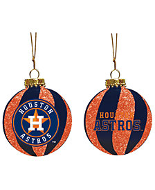 "Memory Company Houston Astros 3"" Sparkle Glass Ball"