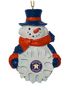 Memory Company Houston Astros Snowflake Snowman Ornament