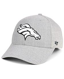 Denver Broncos Heathered Black White MVP Adjustable Cap