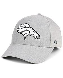 '47 Brand Denver Broncos Heathered Black White MVP Adjustable Cap