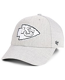 Kansas City Chiefs Heathered Black White MVP Adjustable Cap
