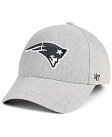 New England Patriots Heathered Black White MVP Adjustable Cap