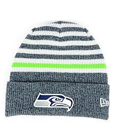 New Era Seattle Seahawks Striped2 Cuff Knit Hat