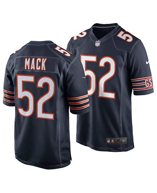 quality design 658fe 0168f Men's Khalil Mack Chicago Bears Game Jersey