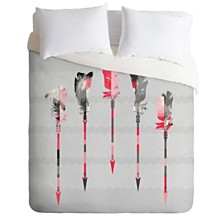 Deny Designs Iveta Abolina Coral Feathers Twin Duvet Set