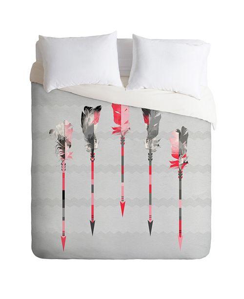 Deny Designs Iveta Abolina Coral Feathers Twin Duvet Set