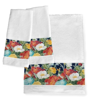 Image of Midnight Floral Bath Towel Bedding