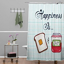 Heather Dutton Happiness Is Toast And Jam Shower Curtain
