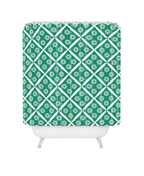Deny Designs Holli Zollinger Crosshatch Flower Shower Curtain