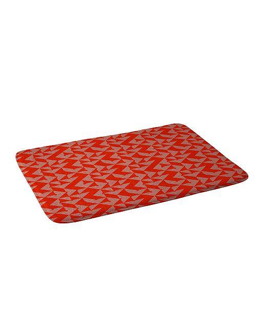 Deny Designs Holli Zollinger Mod Circuit Red Bath Mat