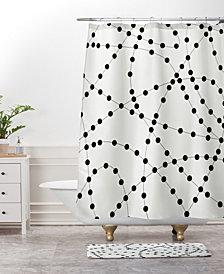 Deny Designs Holli Zollinger Dotted Black Line Bath Mat