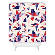 Deny Designs Holli Zollinger Bright Origami Shower Curtain