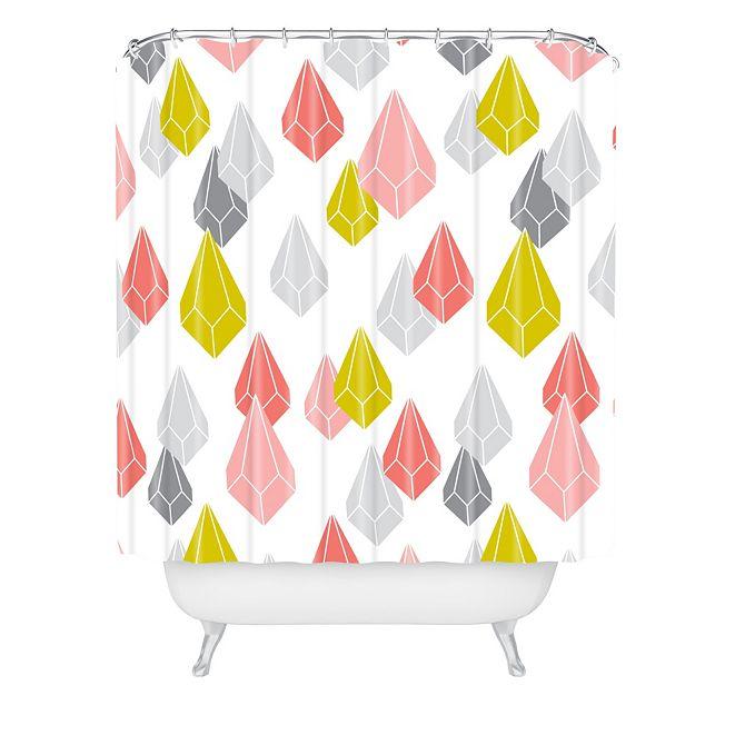 Deny Designs Heather Dutton Raining Gems Enchanted Shower Curtain