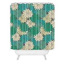 Holli Zollinger Flora Minted Shower Curtain