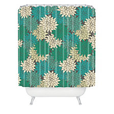 Deny Designs Holli Zollinger Flora Minted Shower Curtain