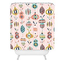Heather Dutton Decorated Blush Shower Curtain