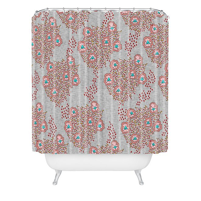 Deny Designs Holli Zollinger Boho Light Floral Shower Curtain