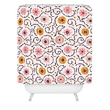 Holli Zollinger Suzani Pink Shower Curtain