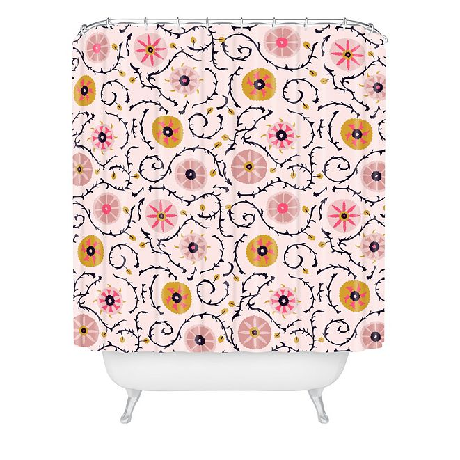 Deny Designs Holli Zollinger Suzani Pink Shower Curtain