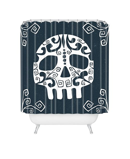 Deny Designs Heather Dutton Mascara De Muerte Shower Curtain