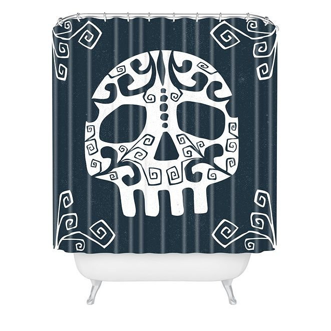 Deny Designs Heather Dutton Mascara De Muerte Shower Curtain