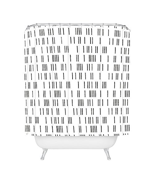 Deny Designs Holli Zollinger Bogo Mudcloth White Shower Curtain