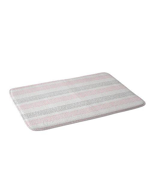Deny Designs Holli Zollinger French Linen Geo Stripe Bath Mat