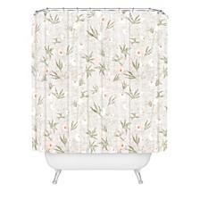 Holli Zollinger French Linen Anemone Light Shower Curtain