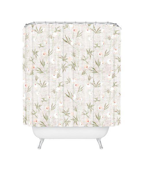Deny Designs Holli Zollinger French Linen Anemone Light Shower Curtain