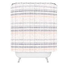 Deny Designs Holli Zollinger French Linen Stripe Navy Shower Curtain