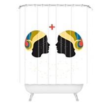 Deny Designs Holli Zollinger Zodiac Gemini Shower Curtain
