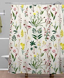 Deny Designs Holli Zollinger Wildflower Study Light Shower Curtain