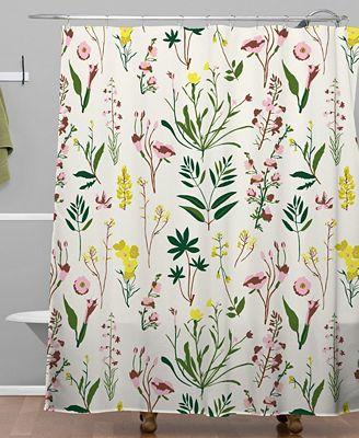 Deny Designs Holli Zollinger Wildflower Study Light Shower Curtain
