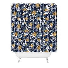 Deny Designs Heather Dutton Festive Forest Navy Shower Curtain