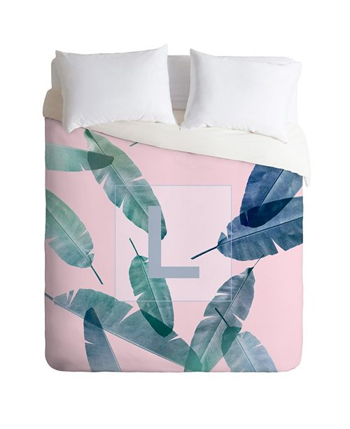 Deny Designs Iveta Abolina Peaches N Cream L Queen Duvet Set