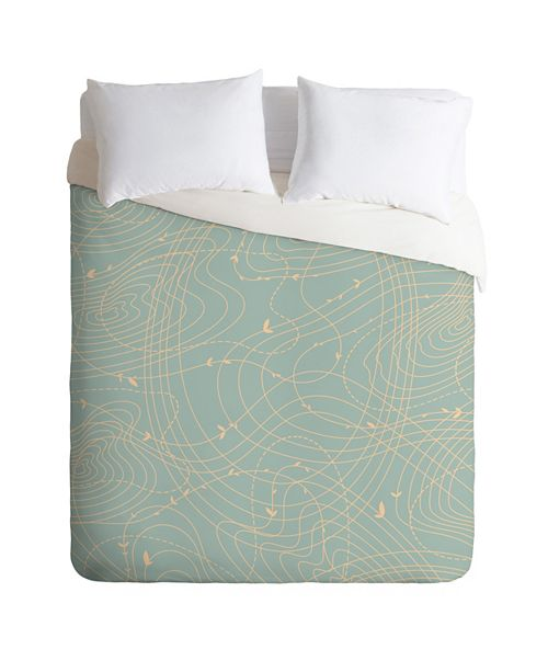 Deny Designs Iveta Abolina The Tangled Web II Queen Duvet Set